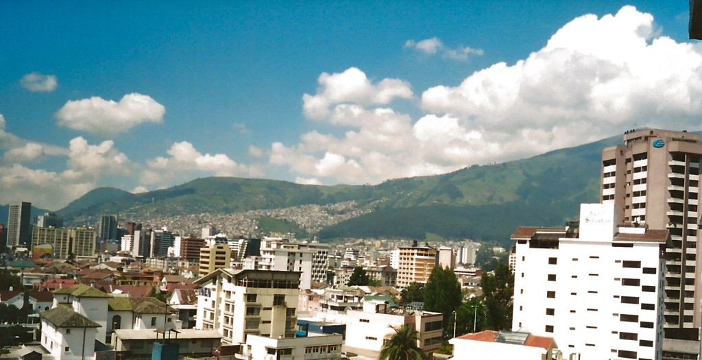 The view from our apartment in Quito.